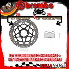 KIT-RDTL DISCO E PASTIGLIE BREMBO ANTERIORE KTM ADVENTURE 1050CC 2015- [GENUINE+FLOTTANTE] 78B40878+07BB1973