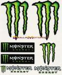 8252 Adesivo Monster Energy 7pz Medi 16x13,5 cm