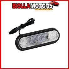 97017 LAMPA SET 20 PZ, LUCE INGOMBRO A 3 LED, MONTAGGIO AD INCASSO, 12/24V - BIANCO