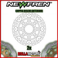 2-DF5133AF COPPIA DISCHI FRENO ANTERIORE NEWFREN KAWASAKI ZX-6 RR 600cc NINJA 2005-2006 FLOTTANTE