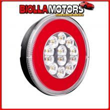 41535 LAMPA O-LED, FANALE ROTONDO RETROMARCIA E POSIZIONE, 12/24V