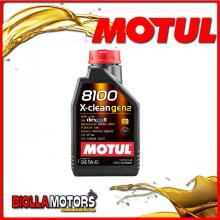 109761 1 LITRO OLIO MOTUL 8100 X-CLEAN 5W40 GEN2 100% SINTETICO PER MOTORI 4T
