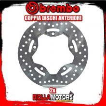 2-68B407K9 COPPIA DISCHI FRENO ANTERIORE BREMBO SYM MAXSYM ABS 2012- 400CC FISSO