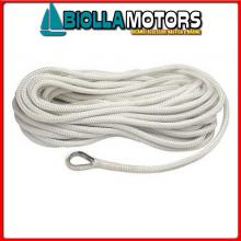 3101468 MOORING LINE WHITE 20MM X 15M< Treccia Mooring Bianco con Redancia