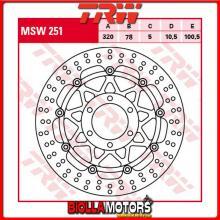 MSW251 DISCO FRENO ANTERIORE TRW Triumph 955 Daytona 1997-2001 [FLOTTANTE - ]