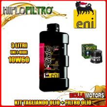 KIT TAGLIANDO 3LT OLIO ENI I-RIDE 10W60 TOP SYNTHETIC KAWASAKI ER-6f (EX650) 650CC 2006- + FILTRO OLIO HF204