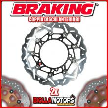 WK130L+WK130R COPPIA DISCHI FRENO ANTERIORE DX + SX BRAKING KTM ADVENTURE 1190cc 2013-2015 WAVE FLOTTANTE