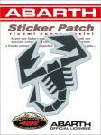 21563 ADESIVO ABARTH STICKERS PATCH SCORPIONE SAGOMATO 70X80 MM