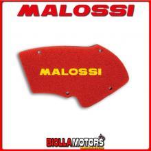 ESA 1414504 SPUGNA FILTRO ARIA MALOSSI ITALJET DRAGSTER 180 2T LC DOPPIO STRATO DOUBLE RED SPONGE PER FILTRO ORIGINALE -