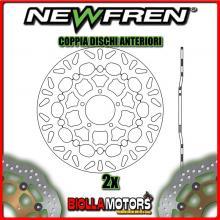 2-DF5249AF COPPIA DISCHI FRENO ANTERIORE NEWFREN DUCATI HYPERMOTARD 796cc (800cc) 2010-2012 FLOTTANTE