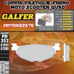FD352G1380 PASTIGLIE FRENO GALFER SINTERIZZATE POSTERIORI YAMAHA XP 500 T-MAX BLACK MAX 06-07