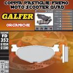 FD352G1054 PASTIGLIE FRENO GALFER ORGANICHE POSTERIORI YAMAHA XP 500 T-MAX BLACK MAX 06-07
