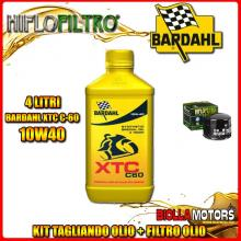 KIT TAGLIANDO 4LT OLIO BARDAHL XTC 10W40 MOTO GUZZI 850 Le Mans I,II,III 850CC 1975-1983 + FILTRO OLIO HF552