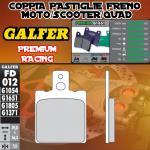 FD012G1651 PASTIGLIE FRENO GALFER PREMIUM POSTERIORI ATK TODOS MODELOS 92-93