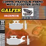 FD315G1054 PASTIGLIE FRENO GALFER ORGANICHE POSTERIORI YAMAHA YFM 450 WOLVERINE DER. 06-