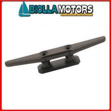 1111406 GALLOCCIA 60 BLACK Bitta Flat in Plastica Nera