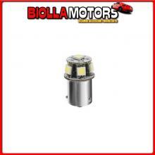 98330 LAMPA 24/28V HYPER-LED 18 - 6 SMD X 3 CHIPS - (R5W) - BA15S - 1 PZ - D/BLISTER - ARANCIO - DOPPIA POLARIT?