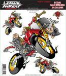 LT88001 ADESIVO RED AIR MOTOCROSS