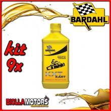 KIT 9X LITRO OLIO BARDAHL KXT KART OLIO MOTORE PER GO-KART 1LT - 9x 230039