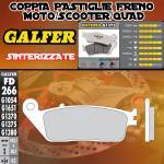 FD266G1375 PASTIGLIE FRENO GALFER SINTERIZZATE ANTERIORI YAMAHA X - MAX 125 ABS 10-