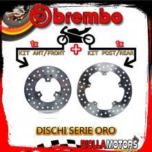 BRDISC-1749 KIT DISCHI FRENO BREMBO PEUGEOT METROPOLIS GT 2014- 400CC [ANTERIORE+POSTERIORE] [FISSO/FISSO]