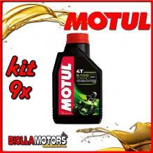 KIT 9X LITRO OLIO MOTUL 5100 4T 10W40 TECHNOSYNTHESE 100% SINTETICO PER MOTORI 4T - 9x 104066