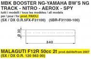 ESA 5984 COPPIA STELI FORCELLA BOOSTER NG YAMAHA BWS NG TRACK AEROX MALAGUTI F12R