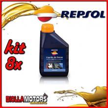 KIT 8X 500ML OLIO REPSOL LIQUIDO PER FRENO DOT 5.1 - 8x RI801B91IT