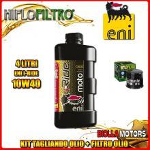 KIT TAGLIANDO 4LT OLIO ENI I-RIDE 10W40 SYNTHETIC TECH KAWASAKI KLV1000 1000CC 2004-2006 + FILTRO OLIO HF138