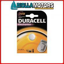 2040006 BATTERIE DURACELL CR2016 BLISTER Batterie Duracell 2016