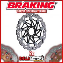 WK144L+WK144R COPPIA DISCHI FRENO ANTERIORE DX + SX BRAKING KTM SUPER DUKE GT ABS 1290cc 2016 WAVE FLOTTANTE