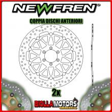 2-DF5152AF COPPIA DISCHI FRENO ANTERIORE NEWFREN APRILIA RSV 1000cc MILLE 1998-2002 FLOTTANTE