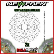 2-DF5152AF COPPIA DISCHI FRENO ANTERIORE NEWFREN YAMAHA FZR 1000cc EX-UP 1991-1993 FLOTTANTE