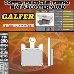 FD290G1375 PASTIGLIE FRENO GALFER SINTERIZZATE ANTERIORI SUZUKI VZ 1600 INTRUDER 05-