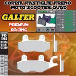 FD145G1651 PASTIGLIE FRENO GALFER PREMIUM POSTERIORI DAELIM S3 250 Fi ADVANCE 12-