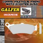 FD172G1054 PASTIGLIE FRENO GALFER ORGANICHE POSTERIORI TRIUMPH THUNDERBIRD STORM 1700 11-