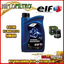 KIT TAGLIANDO 4LT OLIO ELF MAXI CITY 5W40 KAWASAKI EN500 500CC 1990-1994 + FILTRO OLIO HF303