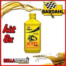 KIT 8X LITRO OLIO BARDAHL XTC C60 15W50 LUBRIFICANTE PER MOTO 4T 1LT - 8x324141