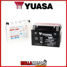 E01158 BATTERIA YUASA YTX9-BS SIGILLATA CON ACIDO YTX9BS MOTO SCOOTER QUAD CROSS