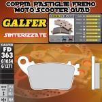 FD363G1371 PASTIGLIE FRENO GALFER SINTERIZZATE POSTERIORI SUZUKI GSX R 100009-11