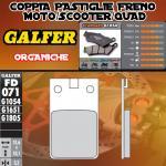 FD071G1054 PASTIGLIE FRENO GALFER ORGANICHE ANTERIORI GARELLI 50 SUPER CICLONE AC 91-