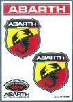 21501 ADESIVO ABARTH RACING TABS 2 SCUDETTI MEDI
