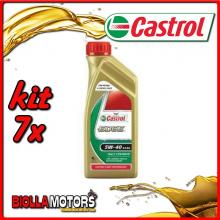 KIT 7X LITRO OLIO CASTROL EDGE 5W40 LT1 - 7x 5308