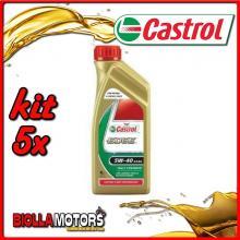 KIT 5X LITRO OLIO CASTROL EDGE 5W40 LT1 - 5x 5308