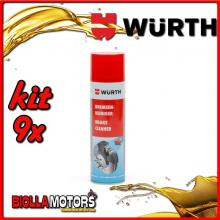 KIT 9x 500ML PULITORE PER FRENI SPRAY WURTH - 9x 0890117