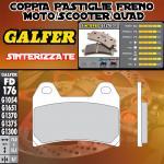 FD176G1370 PASTIGLIE FRENO GALFER SINTERIZZATE ANTERIORI MV AGUSTA BRUTALE 1090 R 13-