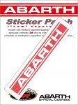 21564 ADESIVO ABARTH STICKERS PATCH SCRITTA ABARTH 115X26 MM
