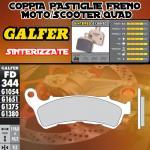 FD344G1380 PASTIGLIE FRENO GALFER SINTERIZZATE ANTERIORI HONDA XL 700 V TRANSALP IZQ. ABS 08-