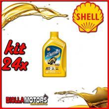 KIT 24X LITRO OLIO SHELL ADVANCE 4T AX5 15W50 1LT - 24x 550027092