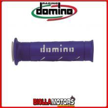 A25041C4648B7-0 COPPIA MANOPOLE DOMINO BLU/BIANCO SOFTROAD
